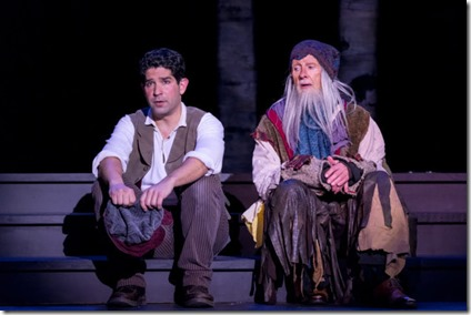 Daniel Tatar (Baker) and James Harms (Mysterious Man) star in Into the Woods, Music Theater Works