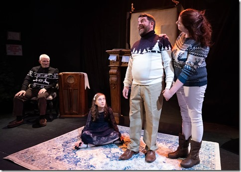 Mike Rogalski, Molly Southgate, Nathan Pease and Katy Crow star in The Winter Wolf, Otherworld Theatre