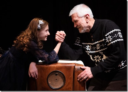 Molly Southgate and Mike Rogalski star as Cora and Grandfather in The Winter Wolf, Otherworld Theatre 3