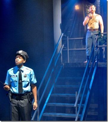 Terrance Lamonte Rogers Jr. and Bill Gordon star as Carl Winslow and Bruce McClane in Yippee Ki-Yay