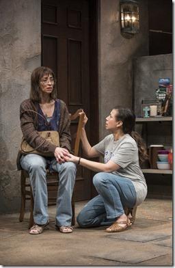 Charín Alvarez (Marisela) and Sandra Delgado (Yoli) star in La Ruta, Steppenwolf Theatre
