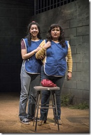 Cher Álvarez (Brenda) and Karen Rodriguez (Ivonne) star in La Ruta, Steppenwolf Theatre
