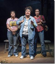Isabella Gerasole (Women of Juarez), Mari Marroquin (Zaide) and Alice da Cunha (Women of Juarez) star in La Ruta, Steppenwolf