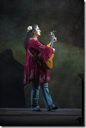 Laura Crotte stars as Desamaya in La Ruta, Steppenwolf Theatre