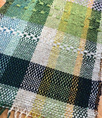 Loom Weaving Green Sampler