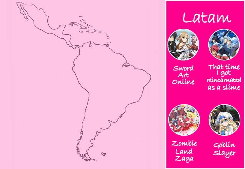 Chica Manga anime most viewed fall season by country Latam