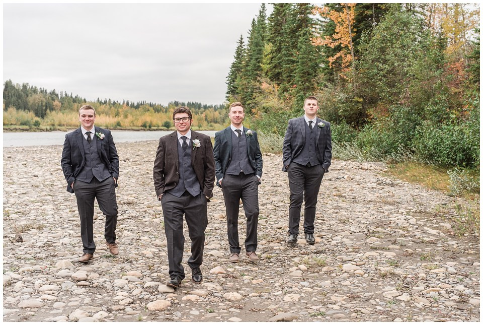 Fall wedding on farm near Rocky Mountain House