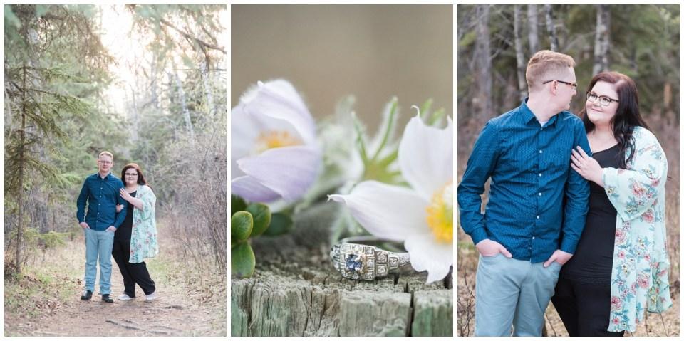spring engagement session at JJ Collett Center