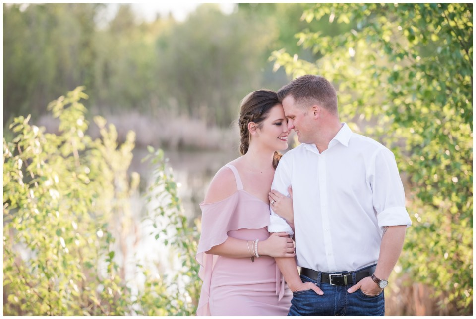 Sunset Save the Date photos in Red Deer