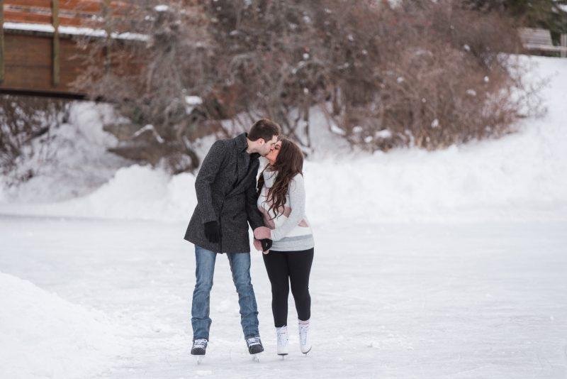 Bower Ponds Ice skating Engagement session