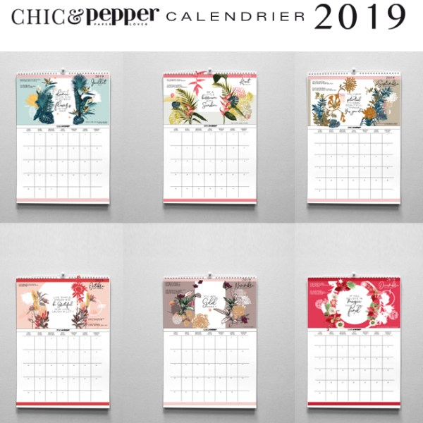 calendrier 2019 chic and pepper