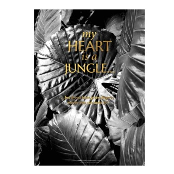 affiche or Jungle chic and pepper