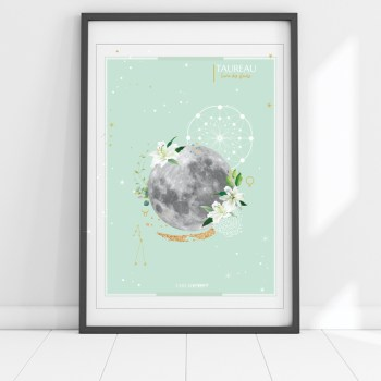 affiche Moon Taureau Chic and Pepper