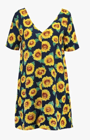 robe tournesols glamorous
