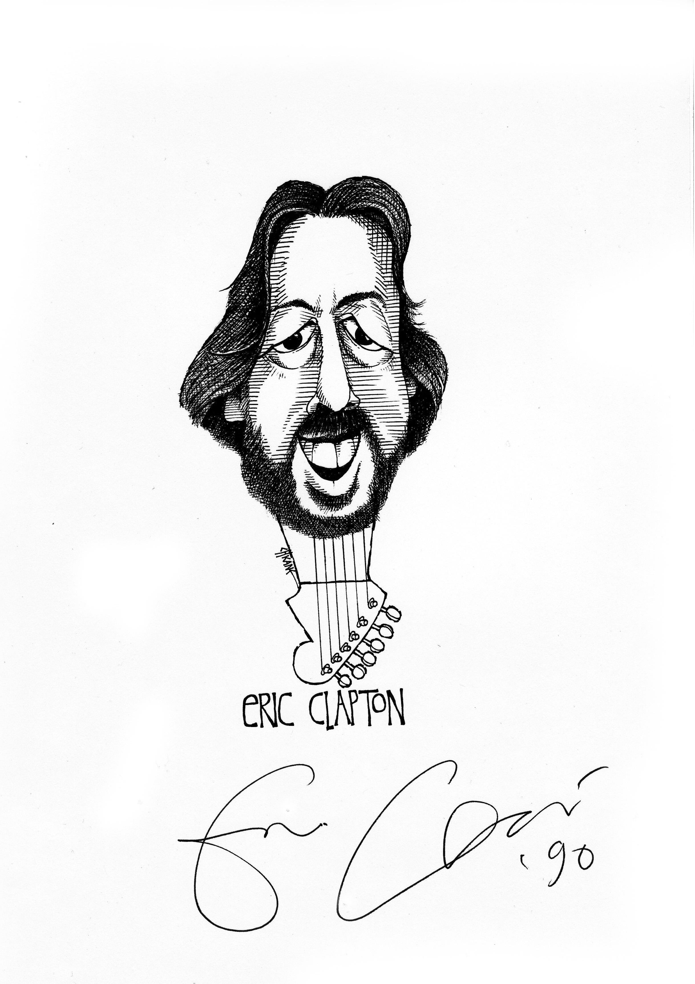 Drawing Eric Clapton