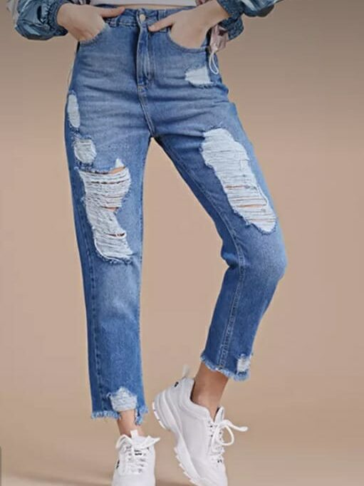 Jeans Belu Mom Coin Roturas
