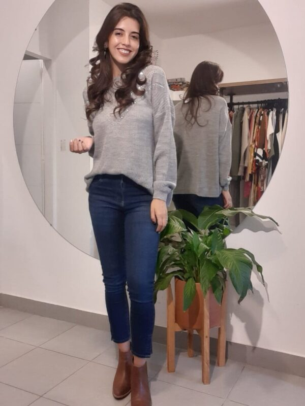 Sweater oversize gris lana