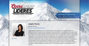 Angela Rosas Coors Light Lideres