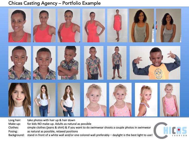 Example Photos for Portfolio Chicas Casting Agency