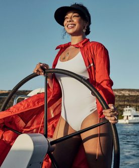 editorial linda magazine curacao yacht boat sea sun beach model location summer shoot