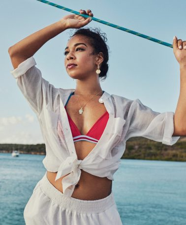 editorial linda magazine curacao yacht boat sea sun beach model location summer shoot