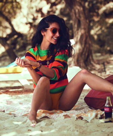 editorial influencer magazine fashion shoot production caribbean curacao beach summer sea sun swim fixer