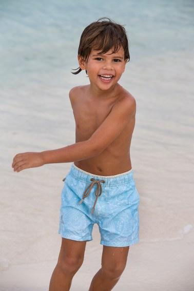 Little boy with swimshort from Ramatuelle Beachwear