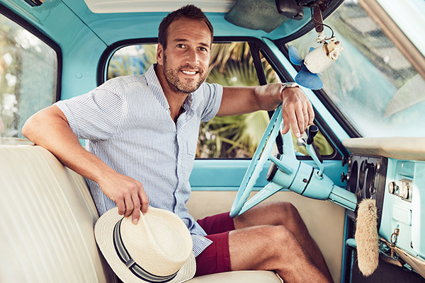 TV Personality Ben Fogle on Curacao for Debenhams