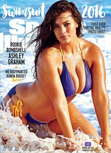 Ashley Graham, the first plus-size model ever to land the Sports Illustrated Swim Issue Cover