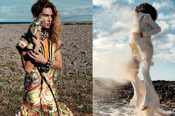 Top Fashion Model Erin Wasson on Curacao