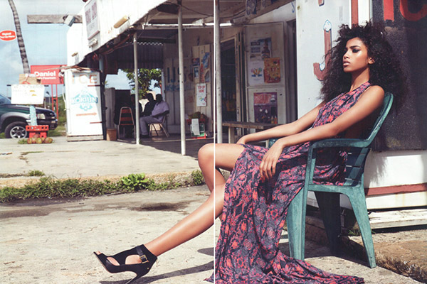 Top Fashion Model Imaan Hamam on Curacao