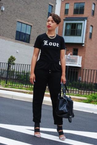 drea in all black