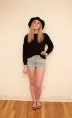 Sweater : Ralph Lauren Denim & Supply; Shorts : American Apparel; Hat : H&M; Shoes : Vince Camuto