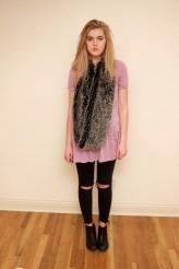 Dress : Topshop; Jeans : Zara; Scarf : Nordstrom BP; Shoes : Topshop