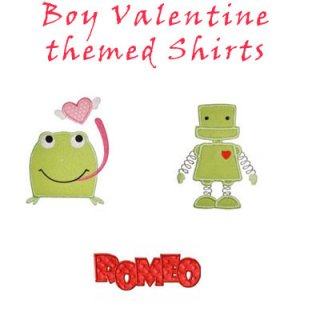 Boy Valentine Applique T Shirts For Toddler Boys And Big