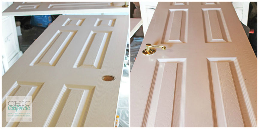 Then one day I had a moment where I looked at those doors and said well if they are not old I will make these new doors look old using paint and glue! & DIY tips for making new doors look like old french doors Pezcame.Com