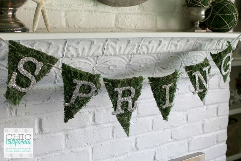 How to Make A Spring Banner: Tutorial from Chic California