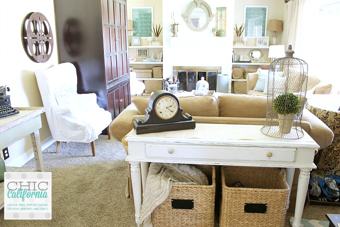 vintage style living room tour chic california