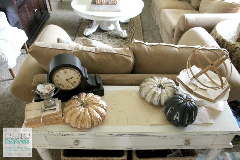 Fall Home Tour Entry Table by Chic California