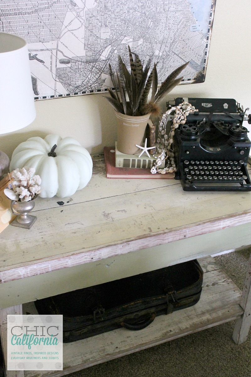 Fall Home Tour Vintage Market Table by Chic California
