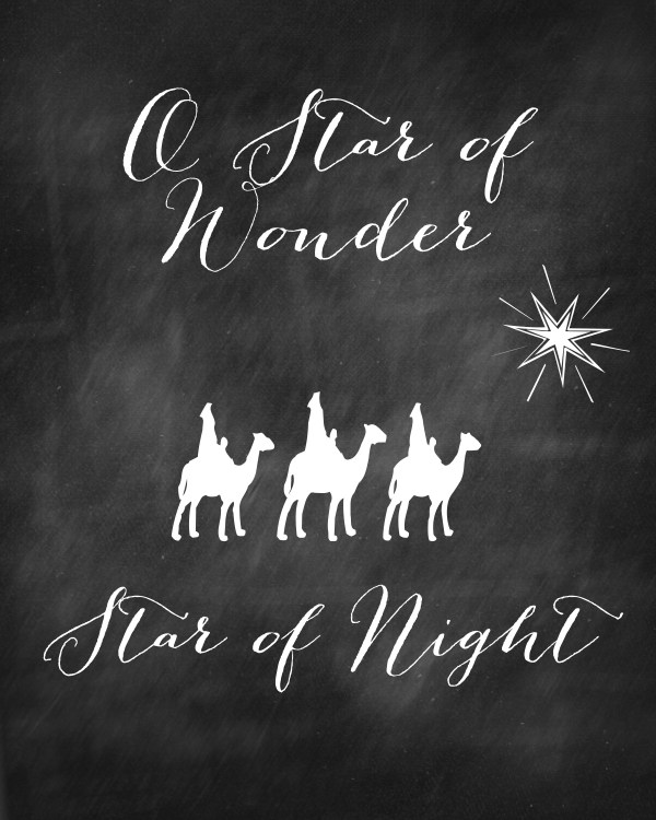 Star of Wonder Star of Night with camels