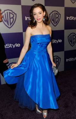 2010 Rose McGowan Vintage Blue Gown