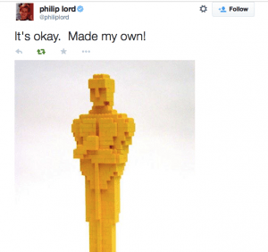 The Lego Movie Tweet