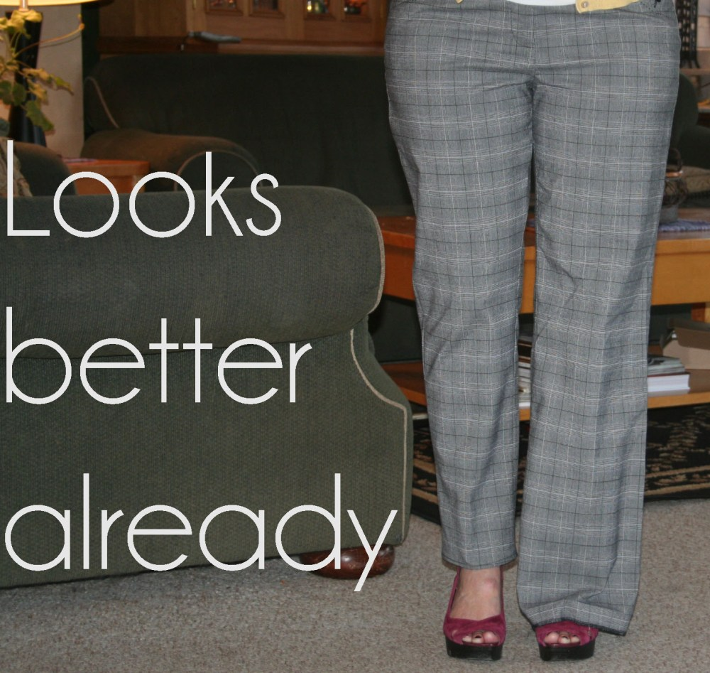DIY Create Skinny Trousers from Wide Legs Tutorial (5/6)