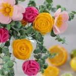 Diy Felt Flowers Bouquet New Video And Tutorial Just In Time For Valentine S Day The Renegade Seamstress