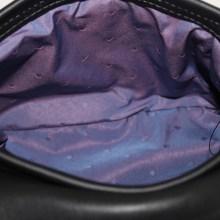 Sac cuir Ondulations cuirs noir irisé et verni