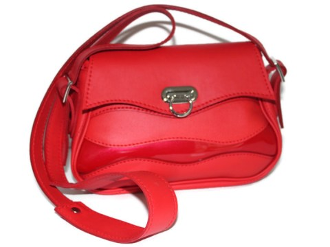Sac cuir Ondulations rouge cerise