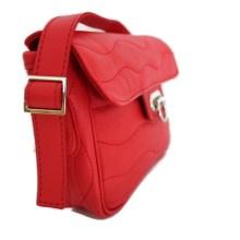 sac cuir ondulations citadin rouge vermeil