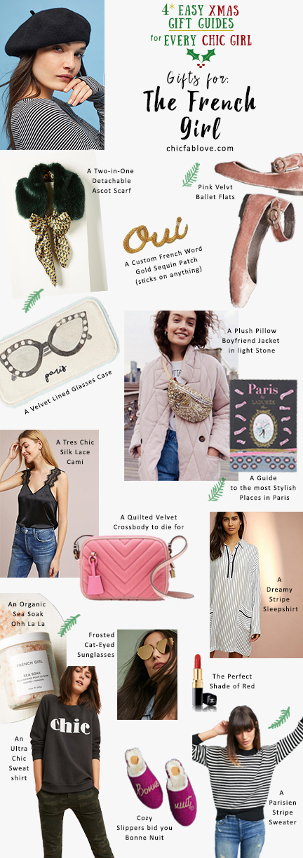 4 Easy Xmas Gift Guides for Every Chic Girl