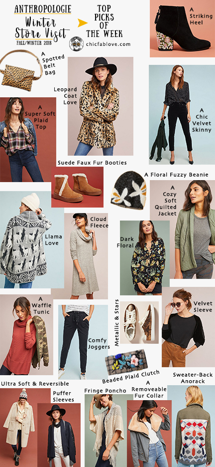 2163929f3fae Anthropologie Winter Store Visit Fall Winter 2018 - Chic+Fab+Love